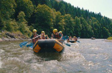 tábor aktivity rafting