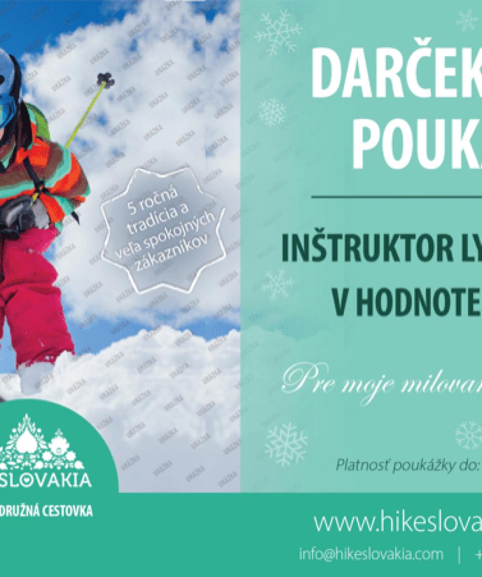 darčekový poukaz inštruktor lyžovania