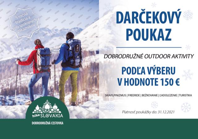 zimné outdoor aktivity poukaz